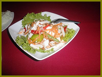Thalaytong Seafood - Somtam - Spicy coconut salad - delicious!